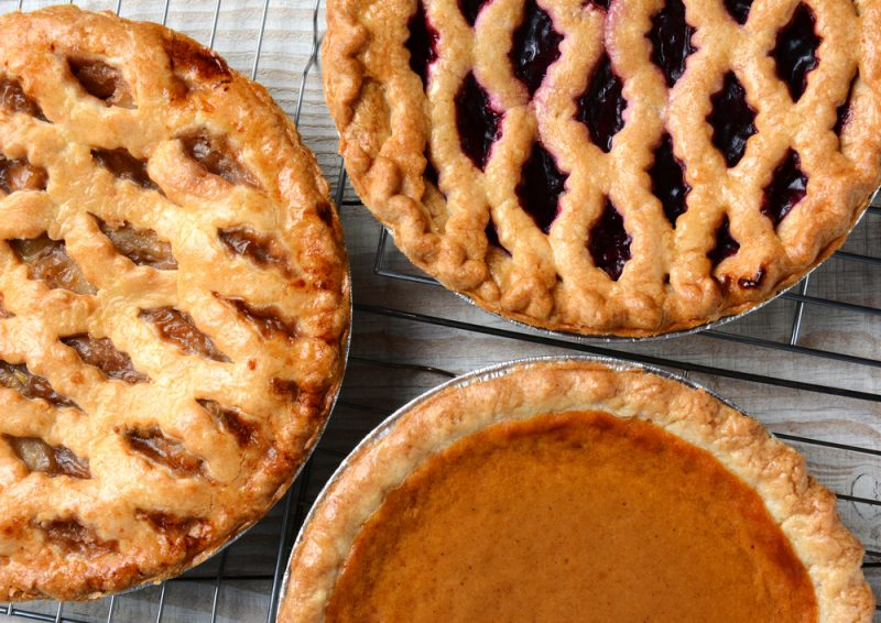 three different pies